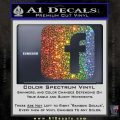 Facebook Customizable Decal Sticker Glitter Sparkle 120x120