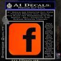 Facebook Customizable Decal Sticker Orange Emblem 120x120