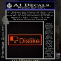Facebook Dislike Decal Sticker Orange Emblem 120x120