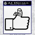 Facebook Like Decal Sticker Busted Thumb Black Vinyl 120x120