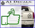 Facebook Like Decal Sticker Busted Thumb Green Vinyl Logo 120x97