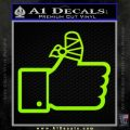 Facebook Like Decal Sticker Busted Thumb Lime Green Vinyl 120x120