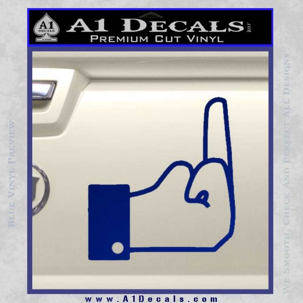 Facebook Like The Finger Decal Sticker Blue Vinyl