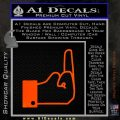 Facebook Like The Finger Decal Sticker Orange Emblem 120x120
