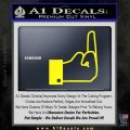Facebook Like The Finger Decal Sticker Yellow Laptop 120x120