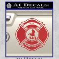 Fire Fighter 9 11 Decal Sticker Red 120x120