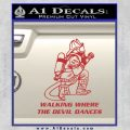 Fire Fighter Decal Sticker Devil Dances Red 120x120