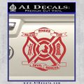 Fire Fighter Decal Sticker Emblem Red 120x120