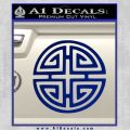 Four Blessing Feng Shui Decal Sticker Blue Vinyl 120x120