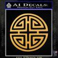 Four Blessing Feng Shui Decal Sticker Gold Vinyl 120x120