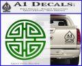 Four Blessing Feng Shui Decal Sticker Green Vinyl Logo 120x97