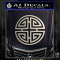 Four Blessing Feng Shui Decal Sticker Metallic Silver Emblem 120x120