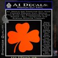 Four Leaf Clover Decal Sticker Orange Emblem 120x120