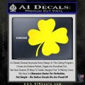 Four Leaf Clover Decal Sticker Yellow Laptop 120x120