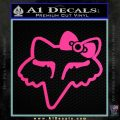 Fox Chick Bow Decal Sticker Pink Hot Vinyl 120x120