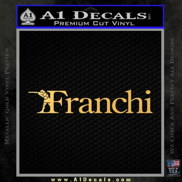 Franchi Firearms Decal Sticker Gold Vinyl