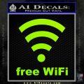 Free WiFi Custom Decal Sticker Lime Green Vinyl 120x120