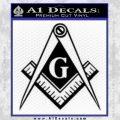 Freemason Compass G Decal Sticker Black Vinyl 120x120