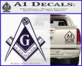 Freemason Compass G Decal Sticker PurpleEmblem Logo 120x97