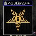Freemason Eastern Star Decal Sticker D1 Gold Vinyl 120x120