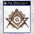 Freemason Masonic G Decal Sticker BROWN Vinyl 120x120