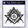 Freemason Masonic G Decal Sticker Black Vinyl 120x120