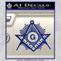 Freemason Masonic G Decal Sticker Blue Vinyl 120x120