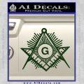 Freemason Masonic G Decal Sticker Dark Green Vinyl 120x120