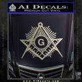 Freemason Masonic G Decal Sticker Metallic Silver Emblem 120x120