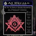 Freemason Masonic G Decal Sticker Pink Emblem 120x120