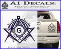 Freemason Masonic G Decal Sticker PurpleEmblem Logo 120x97
