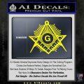 Freemason Masonic G Decal Sticker Yellow Laptop 120x120