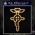 Fullmetal Alchemist Flamel Decal Sticker Gold Vinyl 120x120