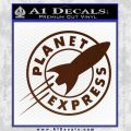 Futurama Planet Express Decal Sticker BROWN Vinyl 120x120