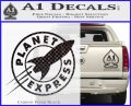 Futurama Planet Express Decal Sticker Carbon FIber Black Vinyl 120x97