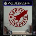 Futurama Planet Express Decal Sticker DRD Vinyl 120x120