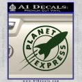 Futurama Planet Express Decal Sticker Dark Green Vinyl 120x120