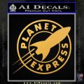 Futurama Planet Express Decal Sticker Gold Vinyl 120x120