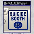 Futurama Suicide Booth Sign Decal Sticker Blue Vinyl 120x120
