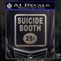 Futurama Suicide Booth Sign Decal Sticker Carbon FIber Chrome Vinyl 120x120