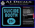 Futurama Suicide Booth Sign Decal Sticker Light Blue Vinyl 120x97