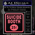 Futurama Suicide Booth Sign Decal Sticker Pink Emblem 120x120