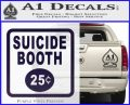 Futurama Suicide Booth Sign Decal Sticker PurpleEmblem Logo 120x97