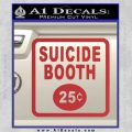 Futurama Suicide Booth Sign Decal Sticker Red 120x120