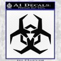 Futuristic Biohazard Decal Sticker D2 Black Vinyl 120x120