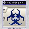 Futuristic Biohazard Decal Sticker D2 Blue Vinyl 120x120
