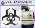 Futuristic Biohazard Decal Sticker D2 Carbon FIber Black Vinyl 120x97