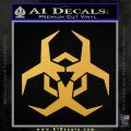 Futuristic Biohazard Decal Sticker D2 Gold Vinyl 120x120