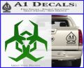 Futuristic Biohazard Decal Sticker D2 Green Vinyl Logo 120x97