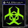 Futuristic Biohazard Decal Sticker D2 Lime Green Vinyl 120x120